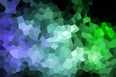 Abstract geometric polygons and triangles. A photograph of an abstract geometric pattern from various polygons and triangles of  blue and green Royalty Free Stock Photography