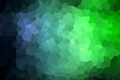 Abstract geometric polygons and triangles. A photograph of an abstract geometric pattern from various polygons and triangles of  blue and green Stock Image