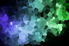 Abstract geometric polygons and triangles. A photograph of an abstract geometric pattern from various polygons and triangles of green and blue Royalty Free Stock Photos