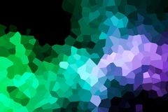 A photograph of an abstract geometric pattern. From various polygons and triangles of green, blue and white Royalty Free Stock Photography