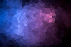 Abstract geometric polygons and triangles. A photograph of an abstract geometric pattern from various polygons and triangles of pink and blue Stock Photos