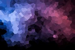 Abstract geometric polygons and triangles. A photograph of an abstract geometric pattern from various polygons and triangles of pink and blue Royalty Free Stock Image