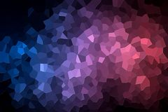 Abstract geometric polygons and triangles. A photograph of an abstract geometric pattern from various polygons and triangles of pink and blue Stock Photography