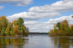 Autumn Boating Stock Photography