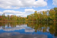 Early Autumn Northwoods Lake Stock Photo