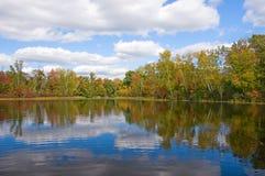 Early Autumn Northwoods Lake Stock Photo
