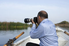 Photograph in the boat Stock Photography