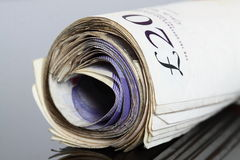 British bank notes C Stock Image