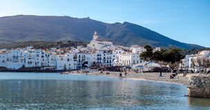 Cadaqués town. Photograph of Cadaqués town in a sunny day, Cadaqués, Catalonia, Spain Royalty Free Stock Photo