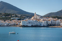 Cadaqués town. Photograph of Cadaqués town in a sunny day, Cadaqués, Catalonia, Spain Stock Photo