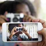 Photograph Camera Telephone Capture Technology Concept Stock Photo