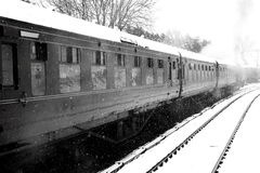 Train carriage in snow B Royalty Free Stock Photography