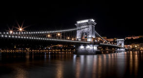 Budapest, Chain Bridge. Photograph of Chain Bridge in Budapest, Hungary Royalty Free Stock Photos