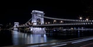 Budapest, Chain Bridge. Photograph of Chain Bridge in Budapest, Hungary stock image