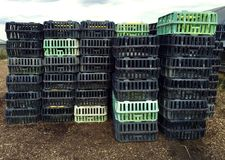 Photograph of Chicken Transport Cages Stock Photo