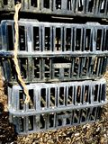 Photograph of Chicken Transport Cages Royalty Free Stock Photo