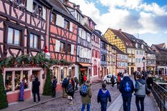 Colmar in christmas royalty free stock image