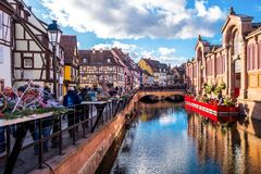 Colmar in christmas Royalty Free Stock Photo