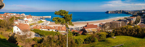 Comillas beach. Photograph of Comillas beach in Cantábria, Spain Royalty Free Stock Images