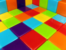 Photograph of constructed building blocks Stock Photos