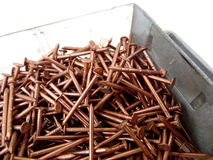 Photograph of Copper Decorative Nails Royalty Free Stock Photography