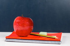 Lunch good student. Photograph of a desk in a school any Royalty Free Stock Photos