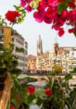 Gerona city during the flower festival