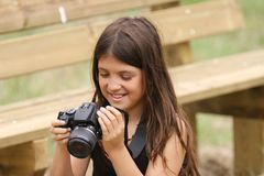 Photograph girl Royalty Free Stock Images