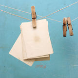 Photograph hang on the clothespin Royalty Free Stock Photo
