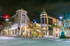 The world famous Rodeo Drive royalty free stock image