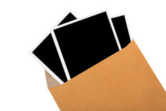 Photograph image in brown envelop Stock Images