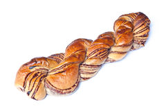 Twisted chocolate bread royalty free stock photos
