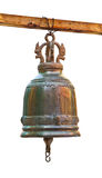Buddhist temple brass bell hanging on cradle Royalty Free Stock Photos