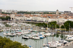 Photograph of La Rochelle harbour taken from high up with arial view Stock Photography