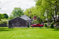 Landscape of some houses in the United States. Photograph of a landscape of some houses in the United States royalty free stock photo