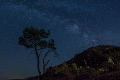 Milky way. This is a photograph of the milky way in Montenegro Stock Image