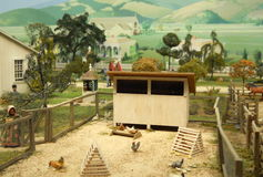 Photograph of Miniature Diorama Royalty Free Stock Images