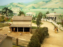 Photograph of Miniture Diorama Royalty Free Stock Photo