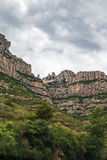 Montserrat - he sanctuary of the Virgin Mary of Montserrat. Photograph of Montserrat - he sanctuary of the Virgin Mary of Montserrat view from the road in path Stock Photography