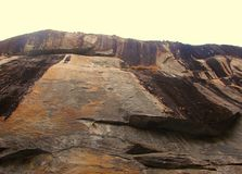 A Natural Giant Rock with Open Sky - Edakkal Caves in Wayanad, Kerala, India Stock Images