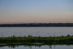 Nauvoo from Montrose Stock Image