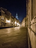 Night in Santiago de Compostela. Photograph of a night in Santiago de Compostela, Galicia, Spain stock image