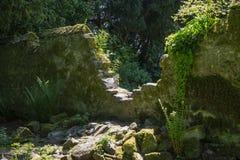 Crumbling Ancient Stone Wall Royalty Free Stock Photos