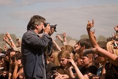 Photograph on the open air festival Royalty Free Stock Photos