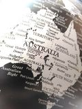 Geography of the world map in black and white. royalty free stock photos