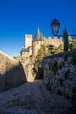 Cacassonne walk. Photograph of path through Cacassone strenght ,Carcassonne, France Stock Photos