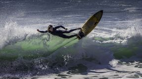Photograph of a Person Surfing royalty free stock photography