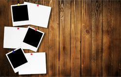 Photograph. Frame y instant camera instant print transfer thumbtack blank Stock Photos