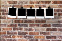 Photograph. Instant camera darkroom y clothesline instant print transfer clothespin Royalty Free Stock Photo