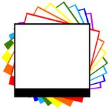 Photograph rainbow. With room for ad space Royalty Free Stock Photo